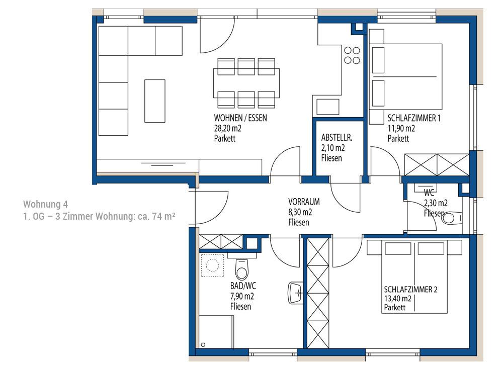 3 zimmer wohnung in salzburg wals immobilien sch dingerimmobilen sch dinger salzburg. Black Bedroom Furniture Sets. Home Design Ideas